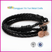 New Design Braided Leather Bracelet Popular Women Men`s Casual Jewelry DIY Handmade Bangles