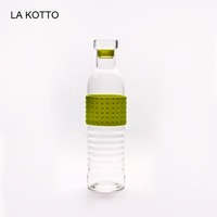 700ml blown glass bottle with silicon