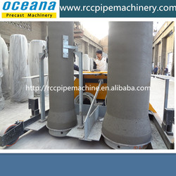 Double-position vertical vibration concrete pipe making machine, rcc hume pipe