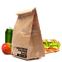 take away kraft paper bags with tin tie