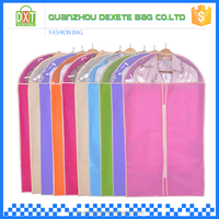 New design colourful durable foldable zip lock garment bag