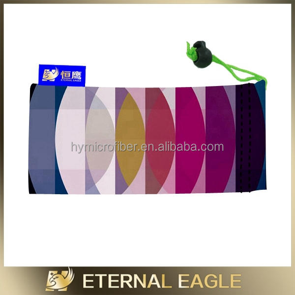 cheap printed microfiber mobile phone pouch /cloth bag sunglasses/microfiber cell phone bag
