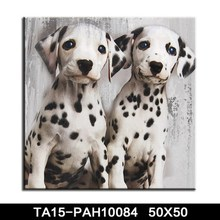 Art deco wall panels wood frames for canvas prints cute animal dog pets oil painting for kids room