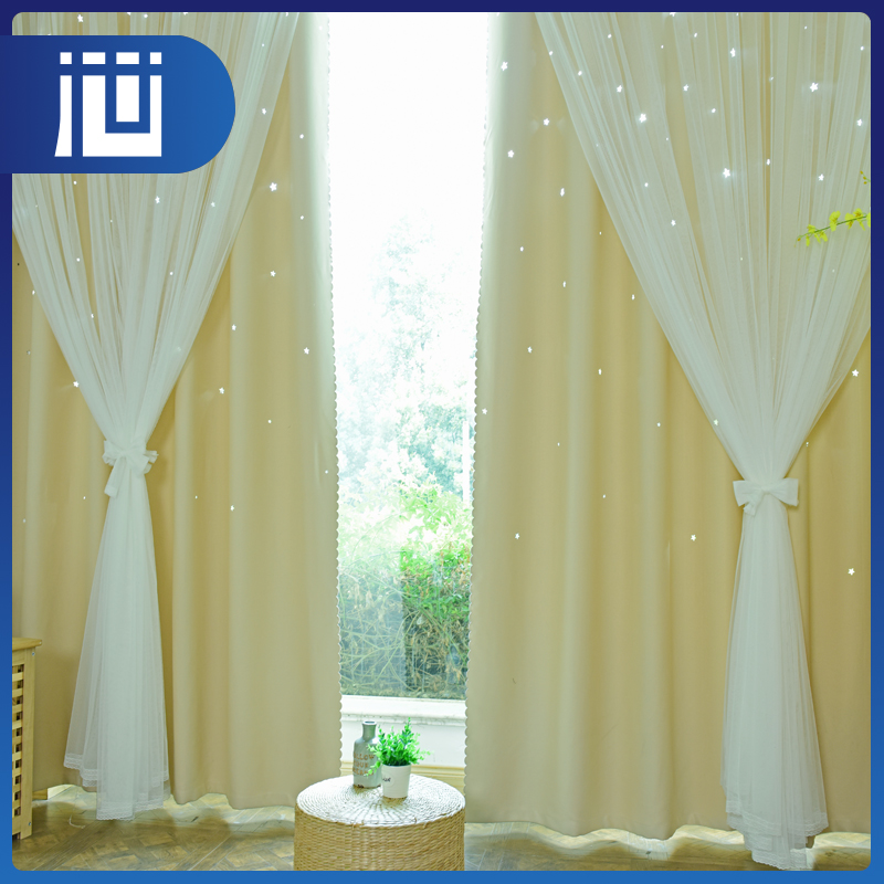 Professional embroidered lace design blackout luxury classic curtains and drapes