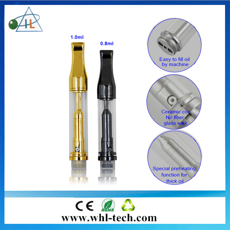 Most popular product in USA glass vape cartridge wickless 510 glass vaporizer cartridge for thicker oil