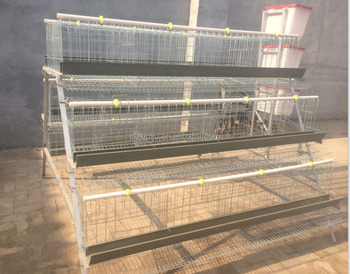 High quality 96pcs 3 layer chicken battery cage Galvanized Wire chicken cage system chicken breeding cage HJ-AC96