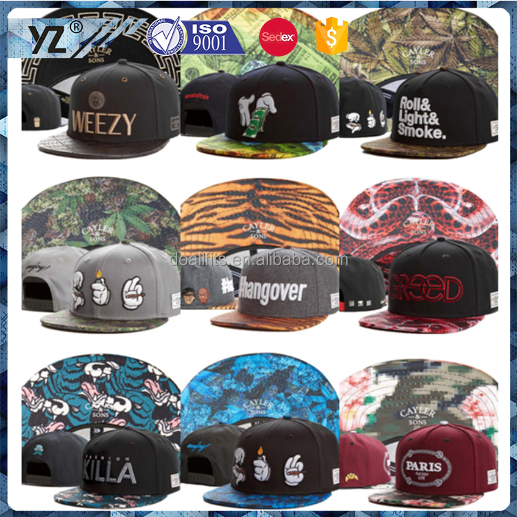 Custom 6 Panel Cap High Quality Snapback Hat