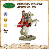 Roman toy soldiers statue with running horse