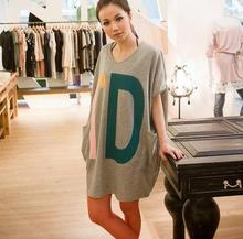 Wholesale fancy night dress short sleeve loose dress for ladies plus size cotton comfort trendy women sleepwear