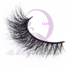 Top Quality 100% 3D Strip Mink Fur Lashes Thick Faux Eyelashes With Magnet Box