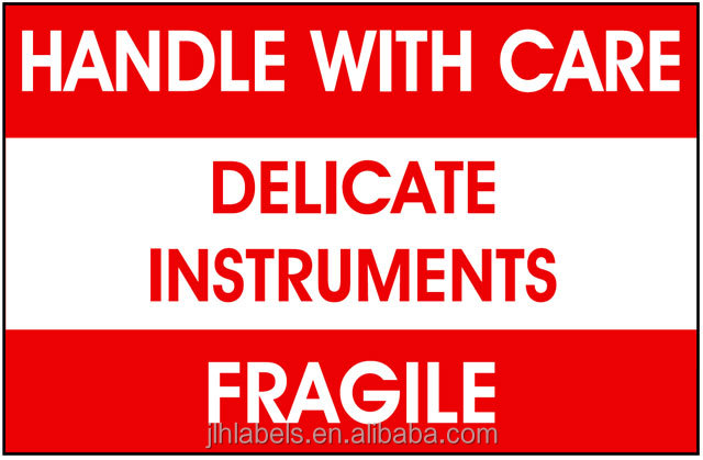 "3"" x 5"" on Semi Gloss Stock, Delicate Instruments handle with care label,500 labels"
