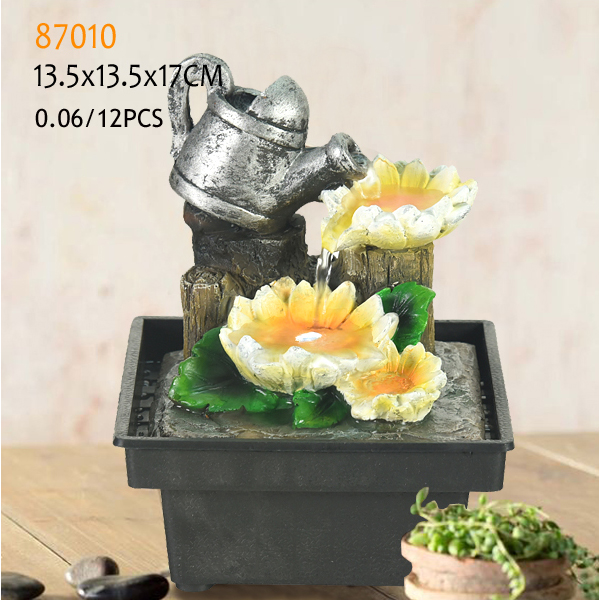Polyresin mini fountains indoor for tabletop