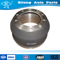 HT250 iron casting automobile brake drum for truck trailer