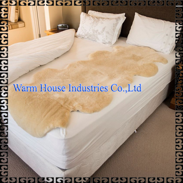 Natural Breathable Eco-friendly Double Medical Sheepskin Washable Rugs