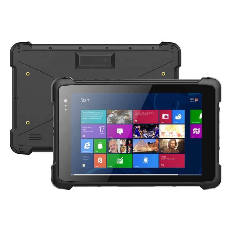 8 Inch 2GB/4GB RAM Quad Core WiFi IP67 6000mAh Battery Rugged Tablet Windows 10 with NFC/GPS/1D/2D/Fingerprint Reader Optional