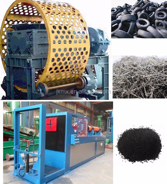 car and truck rubber scrap Tyre recycling equipment