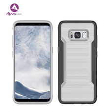 New Fashion PC TPU Phone Case , Brushed Cell Phone Cover Case for Samsung S8