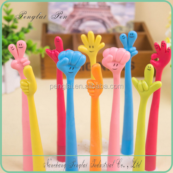 Korean Style Cute Cartoon Gesture Finger Pen Flexible Office & School & <strong>Promotional</strong>