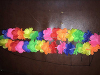 Factory Cheap Polyester Mixed Color Hawaii Lei