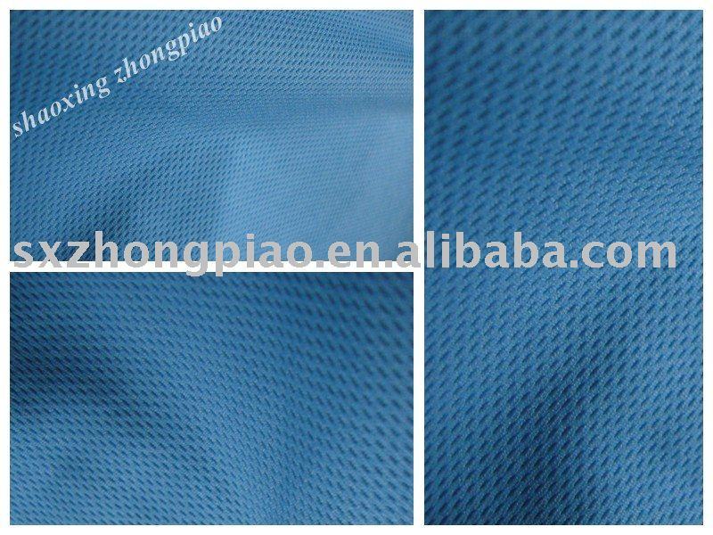 Blue color dyed eyelet fabric