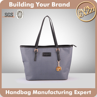 3209 Canvas short handle logo handbag PU purses bags handbags for women Alibaba China