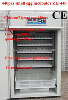 seed germination incubator/stainless steel hold 440 chicken eggs automatic egg incubator hatchery price
