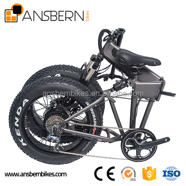 20 Inch 500W 36V 10.4AH Folding Fat Electric Bike electric bicycle spare parts ASB-EB-04
