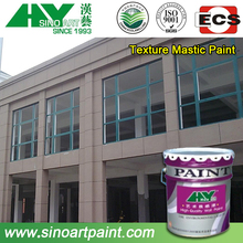 High elastic texture mastic wall paint color chart for exterior