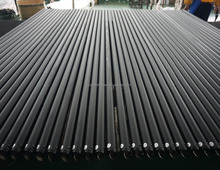 custom strong telescopic flexible black crossbar and uprights poles