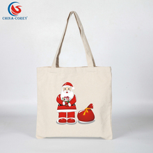 cheap wholesale cotton christmas reusable canvas bag for promotional gifts
