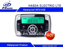 waterproof marine kitchen clock radio mp3 player with LCD screen