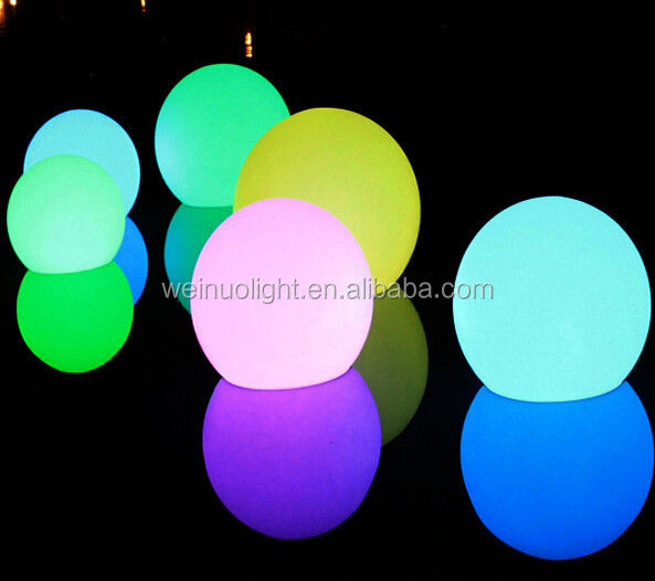 Rechargeable battery floating led illuminated swimming pool ball light