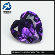 Hot 12x12mm Violet Heart Shape CZ Cubic Zirconia Neelam Stone