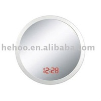 led mirror white wall clock / led round wall clock