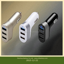 Good quality 3 USB 5.1A rechargeable mobile phone car charger