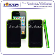 Bumper transparent phone case for iPhone 4 4G 4S Paypal Acceptable
