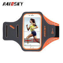 HAISSKY 5.5 inch lycra cell phone armband, sport armband case, mobile phones running armband for iphone 7/7plus ,6 /6 plus