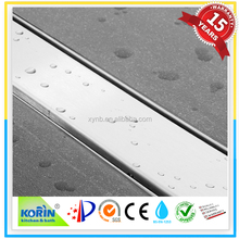KORIN Brushed SS304/316 shower channel drain cover round conner by stamping SHINING or BRUSHED FACE WITH HIGH QUALITY