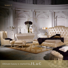 JB05 series -- Elegant & Best selling bedroom furniture sets, oxhide leather luxury furniture from china supplier-JL&C Furniture