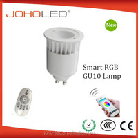 LED RGB APP Apple or Android Phone Control App-Smart GU10 3.5W 90 Degree RGB Lamp