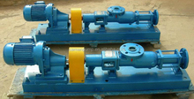 Single screw pump for for mud slurry food industry