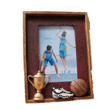Custom Design Sport Souvenir Resin Basketball Picture Photo Frame