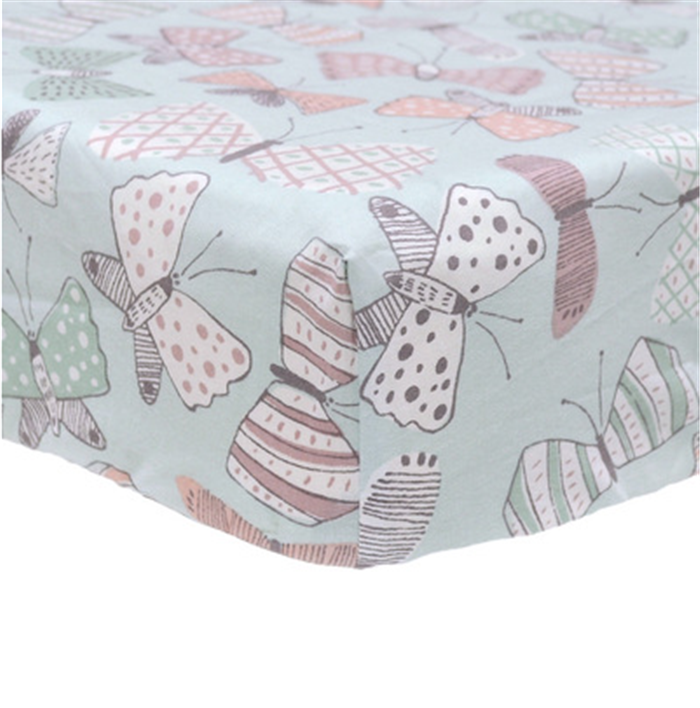 Fitted Crib Sheets - 100% Organic Jersey Cotton - Extremely Soft, Breathable, Cuddly, Snugly Fits all Standard Crib Mattresses,
