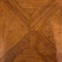 Carbonized strand woven bamboo block flooring