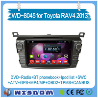 2016 factory hot car radio for Toyota RAV4 2013 multimedia player with car entertainment system support bluetooth wifi swc tpms