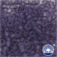 DA DI Glass Seed Beads 8/0 M11-MATTE 'Transparent Frosted Sugar Plum'