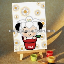 MA017 2014 hot selling Lily doll diy digital oil painting by numbers