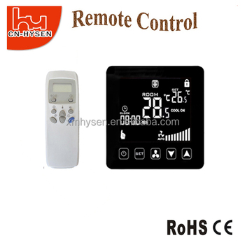 Digital Cooling Heating Fan Coil Remote Control Thermostat