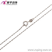 42379-Xuping Simple Design Neck Chain Hot Sale Long Thin Gold Chain Necklace