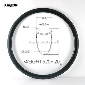 700c road bicycle 25mm width 38mm depth carbon rims UD 3K 12K 1K glossy/matte avialable